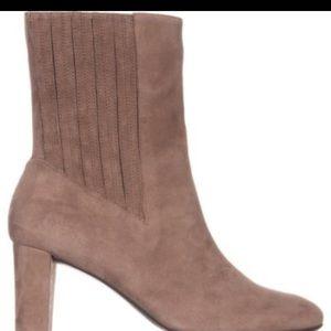 Aeresoles Fifth Avenue Block Heel Suede Boots